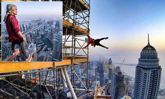 Abudi Alsagoff does 'human flag' on world's tallest residential building in Dubai