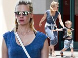 27.JULY.2015 - SANTA MONICA *EXCLUSIVE ALL ROUND PICTURES STRICTLY AVAILABLE FOR UK AND GERMANY USE ONLY* AMERICAN ACTRESS JANUARY JONES AND HER SON XANDER HOLD HANDS AS THEY RUN ERRANDS IN SANTA MONICA. BYLINE MUST READ : XPOSUREPHOTOS.COM ***UK CLIENTS - PICTURES CONTAINING CHILDREN PLEASE PIXELATE FACE PRIOR TO PUBLICATION *** *UK CLIENTS MUST CALL PRIOR TO TV OR ONLINE USAGE PLEASE TELEPHONE 0208 344 2007*