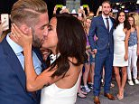 """NEW YORK, NY - JULY 28:  Shawn Booth and Kaitlyn Bristowe visit ABC's """"Good Morning America"""" in Times Square on July 28, 2015 in New York City.  (Photo by James Devaney/GC Images)"""