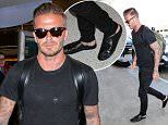 29 Jul 2015 - LOS ANGELES - USA  DAVID BECKHAM AT LAX   BYLINE MUST READ : XPOSUREPHOTOS.COM  ***UK CLIENTS - PICTURES CONTAINING CHILDREN PLEASE PIXELATE FACE PRIOR TO PUBLICATION ***  **UK CLIENTS MUST CALL PRIOR TO TV OR ONLINE USAGE PLEASE TELEPHONE  44 208 344 2007 ***