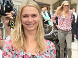 Jaguar and television personality Jodie Kidd supporting fifteen sailors from the Royal Navyís future Flagship, HMS Queen Elizabeth, on their cycle ride from Edinburgh, arriving at the Guildhall in London.\nFeaturing: Jodie Kidd\nWhere: London, United Kingdom\nWhen: 29 Jul 2015\nCredit: David Sims/WENN.com