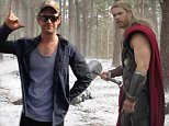 No Merchandising. Editorial Use Only. No Book Cover Usage\nMandatory Credit: Photo by Courtesy Ev/REX Shutterstock (4710594k)\nChris Evans, Chris Hemsworth as Thor\n'Avengers: Age of Ultron' - 2015\n\n