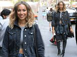 ***MANDATORY BYLINE TO READ INFPhoto.com ONLY*** Leona Lewis is seen leaving the building at Sirius radio station in New York City today.  Pictured: Leona Lewis Ref: SPL1089216  280715   Picture by: Elder Ordonez/INFphoto.com