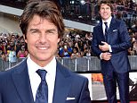 """Tom Cruise attends the premiere of """"Mission: Impossible - Rogue Nation"""" in Times Square on Monday, July 27, 2015, in New York. (Photo by Evan Agostini/Invision/AP)"""