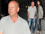 "Picture Shows: Emma Heming, Bruce Willis  July 28, 2015\n \n 'Die Hard' star Bruce Willis takes his wife Emma to dinner at Baltaire restaurant in Brentwood, California. \n \n Bruce is currently shooting a new action comedy film about a P.I. whose professional and personal worlds collide after his pet dog is stolen by a notorious gang."" \n \n Exclusive - All Round\n UK Rights Only\n \n Pictures by : FameFlynet UK © 2015\n Tel : +44 (0)20 3551 5049\n Email : info@fameflynet.uk.com"