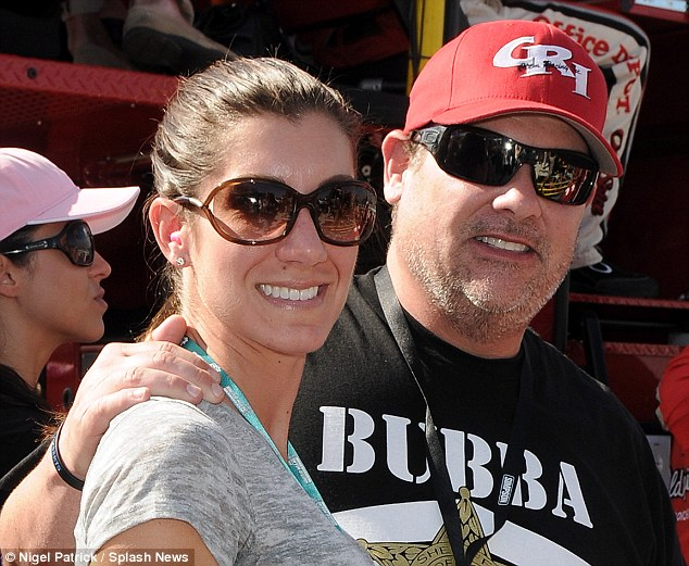 Conversation: In the recording that led to his sacking, Hogan was apparently talking to Heather Clem, left, the wife of Bubba 'The Love Sponge' Clem, right, with whom Hogan was filmed having sex in 2012