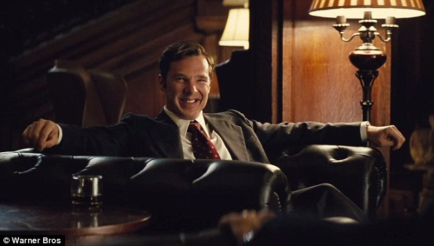 Friends in high places: Black Mass also stars Oscar nominee Benedict Cumberbatch as Whitey's younger brother William, who was the President of the Massachusetts Senate for 18 years