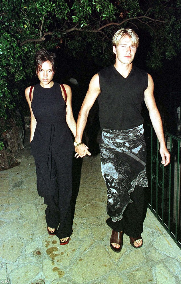 Throwback: Not since he (seen here in June 1998) stepped out in a sarong with wife Victoria Beckham, has David put a foot wrong in the style stakes