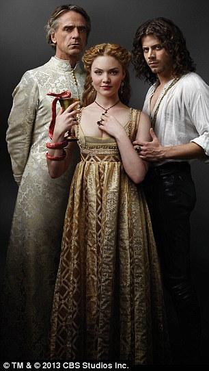 The actress had to disrobe in TV historical drama The Borgias