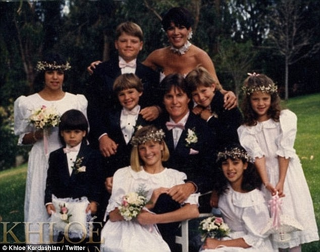 Their 1991 wedding: The former couple's divorce was finalized on March 23 following a 23-year marriage and two daughters - Kendall, 19, and Kylie, who turns 18 next month (not pictured)