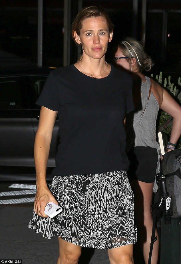 Tight-lipped: Jennifer, who looked a little weary on Tuesday evening, is yet to comment on the claims