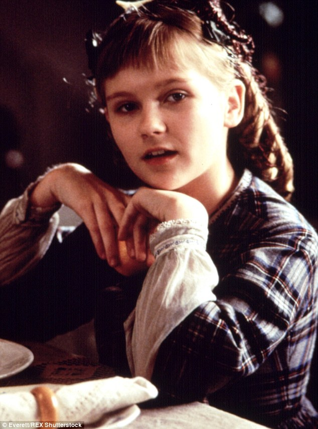 Youngest sister: Kirsten Dunst is shown portraying Amy March in the 1994 film adaptation