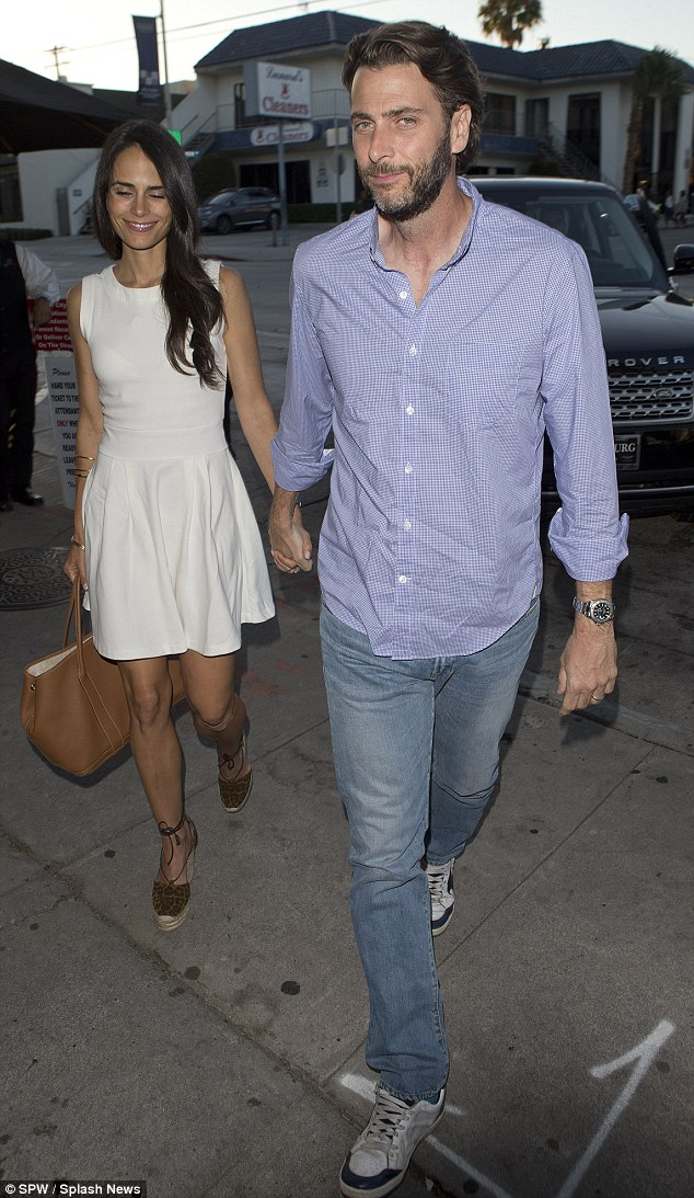 Romance: Ford and Brewster seemed to be in good spirits while walking hand-in-hand to Craig's restaurant in West Hollywood nearly two weeks ago