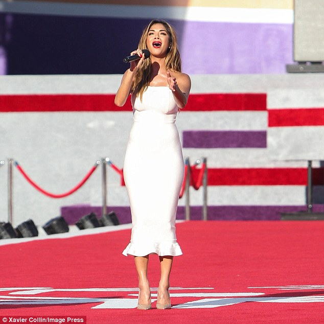 Wowing the crowd: She gave a stunning performance at the Opening Night ceremony of the Special Olympics on Sunday