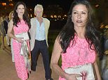 OIC - XCLUSIVEPIX.COM - EXCLUSIVE - MUST AGREE FEES BEFORE USAGE - CALL 077688 36669 - \nMichael Douglas and Catherine Zeta Jones seen enjoying a dinner date at the Cala Di Volpe Hotel in Sardinia. The couple also enjoyed listening to singer Natalie Imbruglia on the 26th July 2015.  Photo Xclusive Pix 077688 36669/ 0203 174 1069 \n
