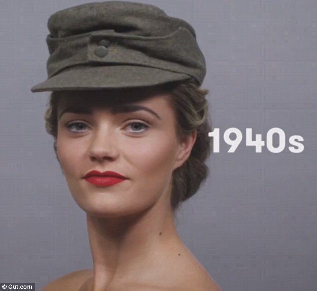 The wartime era during WWII meant women were creative with their makeup to keep their spirits up