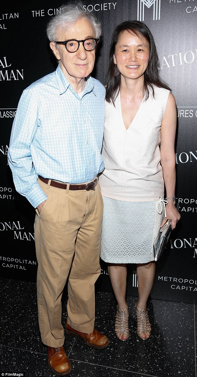 'She responded to someone paternal': Woody Allen analyses his marriage to Soon-Yi (pictured in July 2015)