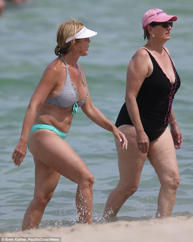Toned: The Real Housewives of Orange County star looked great as she enjoyed the cool water