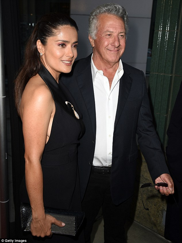 Friends: Dustin Hoffman was also at the premiere