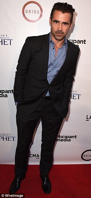 Support: Colin Farrell and Alfred Molina were also suited and booted for the event