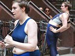 "Lena Dunham filming a scene at the HBO's tv series ""Girls"" in Brooklyn.\n\nPictured: Lena Dunham\nRef: SPL1089933  290715  \nPicture by: Jose Perez \n\nSplash News and Pictures\nLos Angeles: 310-821-2666\nNew York: 212-619-2666\nLondon: 870-934-2666\nphotodesk@splashnews.com\n"