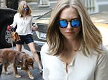 July 29, 2015: Actress Amanda Seyfried arrives back at her East Village apartment with her dog Finn, New York City. Mandatory Credit: Zelig Shaul/ACE/INFphoto.com Ref.: infusny-220