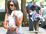 Alec and Hilaria Baldwin were spotted arriving home after heading out with their kids to get breakfast on Wednesday. Hilaria carried her precious newborn son, while Alec carried his daughter in a car seat. Hilaria showed off her perfect post-baby body in tiny shorts and sky high heels for the outing \n\nPictured: Alec Baldwin, Hilaria Baldwin\nRef: SPL1090041  290715  \nPicture by: 247PAPS.TV / Splash News\n\nSplash News and Pictures\nLos Angeles: 310-821-2666\nNew York: 212-619-2666\nLondon: 870-934-2666\nphotodesk@splashnews.com\n