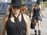 29.JULY.2015 - LOS ANGELES - USA *** EXCLUSIVE ALL ROUND PICTURES *** *** STRICTLY NOT AVAILABLE FOR GERMANY, SWITZERLAND AND AUSTRIA *** FORMER BLACK EYED PEAS STAR TURNED SOLO ARTIST, FERGIE HAS BEEN BACK IN THE STUDIO RECORDING NEW MATERIAL. SHE WAS SEEN LEAVING THE STUDIO SHOWING OFF HER LEGS IN A PAIR OF BLACK DENIM JEANS BYLINE MUST READ : XPOSUREPHOTOS.COM ***UK CLIENTS - PICTURES CONTAINING CHILDREN PLEASE PIXELATE FACE PRIOR TO PUBLICATION *** **UK CLIENTS MUST CALL PRIOR TO TV OR ONLINE USAGE PLEASE TELEPHONE 0208 344 2007**