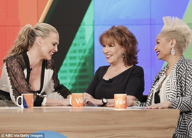 Veteran: One of the show's original hosts, Joy left The View in 2013 but has returned on a few occasions (like on June 5, above) since then