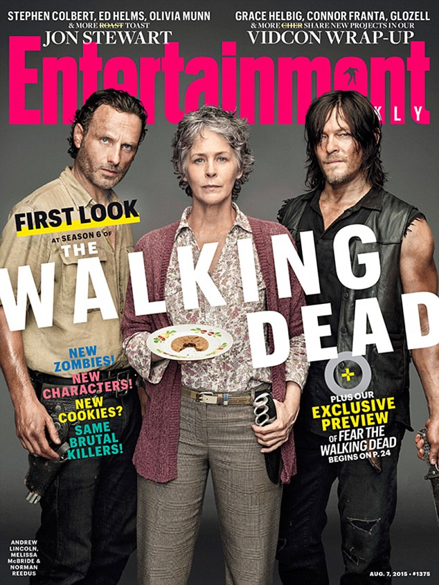 Ominous signs: An Entertainment Weekly cover story (featuring, from left to right, Andrew Lincoln, Melissa McBride, and Norman Reedus) released on Thursday previewed the upcoming season of The Walking Dead