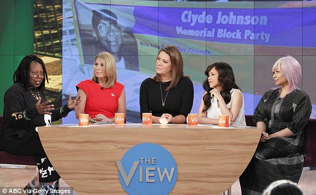 Waiting on a better offer: Instead of joining Whoopi Goldberg (left), Michelle Collins (second from left) and Raven Symone (right), Joy rejected the offer she got for not being good enough