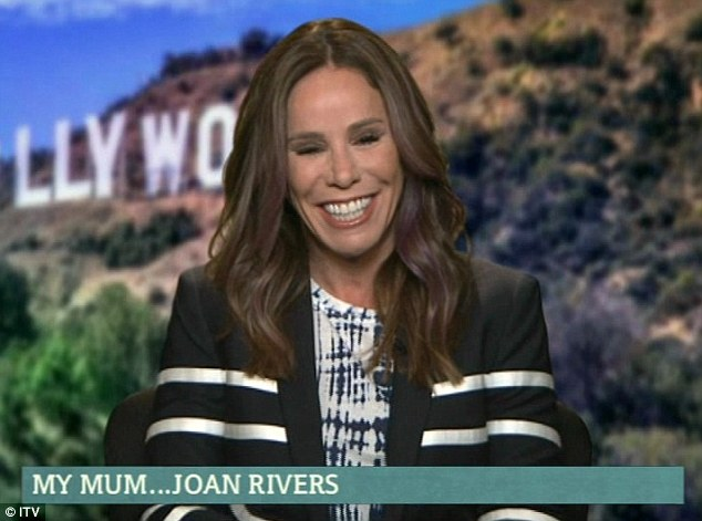 Heartfelt interview: Melissa Rivers described her late mother Joan's final moments on Thursday's episode of This Morning via a live video link from Hollywood