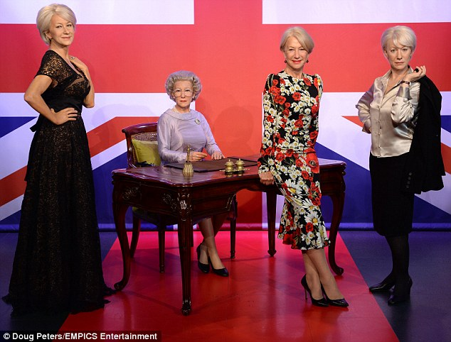 British icon: The actress was attending an event celebrating her 70th birthday atMadame Tussauds