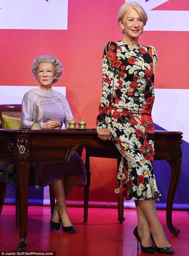 Regal impression: The wax figure portraying the actress in her award-winning role as The Queen arrived in Madame Tussauds Berlin in 2013