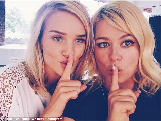 'Shhhh': Rosie recently revealed she is working on a secret project with photographer Amanda de Cadenet