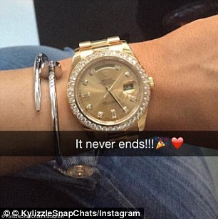 The 17-year-old received a Rolex watch