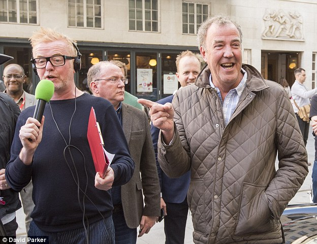 Rivalry:With a new motoring show in town, it will be a case of Chris Evans (left) vJeremy Clarkson (right)