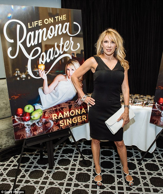 Revealing: Ramona Singer looked to have bounced back from divorce as she launched her tell-all book Life on the Ramona Coaster in NYC on Wednesday