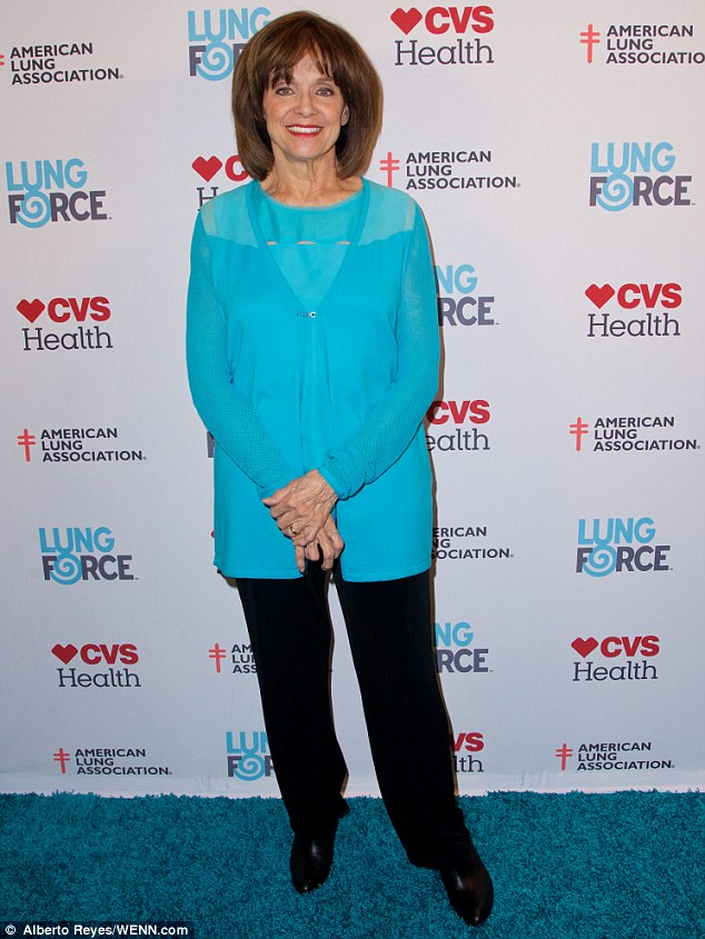 At peace: The actress said in a recent interview that she had come to terms with her terminal cancer diagnosis, pictured here at a Lung Force event in New York; Harper previously beat lung cancer before being diagnosed with brain cancer in 2013
