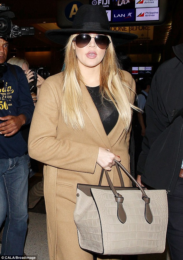 Reality star: Khloe, shown on Monday in Los Angeles, gained fame on Keeping Up With The Kardashians