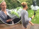 Stephanie Waring has kicked her fella to the curb in spectacular fashion after he tried to apologise after a row. The Hollyoaks actress, who has been dating nightclub owner Rick Shore, received a bouquet of flowers from the hunk who is trying to win her back but it clearly didn't work.