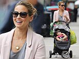30.JULY.2015 - LONDON - UK **EXCLUSIVE ALL ROUND PICTURES** RACHEL STEVENS SEEN RUNNING ERRANDS IN NORTH LONDON WITH HER DAUGHTER MINNIE BLOSSOM WHO WAS BORN IN APRIL 2014. RACHEL BUMPED INTO SOME OTHER MOTHERS AND CHATTED AND LAUGHED WITH THEM ALL MAKING FUSS OF EACH OTHERS CHILDREN. RACHEL IS MARRIED TO ALEX BOURNE AND HAS ONE OTHER CHILD CALLED AMELIE WHO IS FOUR YEARS OLD. RACHEL HAS RECENTLY BEEN ON A NATIONAL REUNION TOUR WITH S CLUB 7.  BYLINE MUST READ : XPOSUREPHOTOS.COM ***UK CLIENTS - PICTURES CONTAINING CHILDREN PLEASE PIXELATE FACE PRIOR TO PUBLICATION *** UK CLIENTS MUST CALL PRIOR TO TV OR ONLINE USAGE PLEASE TELEPHONE 0208 344 2007**
