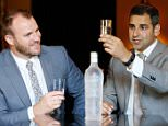 Gavin Carroll (left) General Manager of The Merchant Hotel in Belfast and Michael Tanousis Managing Director of Aqua Amore at the launch of the five-star hotel's new water menu where they have an exclusive range of 13 bottled waters. PRESS ASSOCIATION Photo. Issue date: Thursday July 23, 2015. The priciest product among 13 bottled waters on offer is sourced from glacial walls in the Canadian Arctic. For a 750ml bottle, diners will need to stump up £26.45. The lowest cost item on the list is not quite so hard on the wallet, at £4.95. See PA story ULSTER Water. Photo credit should read: Matt Mackey / Press Eye/PA Wire NOTE TO EDITORS: This handout photo may only be used in for editorial reporting purposes for the contemporaneous illustration of events, things or the people in the image or facts mentioned in the caption. Reuse of the picture may require further permission from the copyright holder.