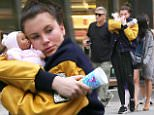 Mandatory Credit: Photo by Startraks Photo/REX Shutterstock (4916852aj)\n Ireland Baldwin, Alec Baldwin, Hilaria Baldwin, Carmen Baldwin\n The Baldwins out and about, New York, America - 30 Jul 2015\n \n