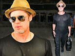 31 Jul 2015 - LOS ANGELES - USA  BRAD PITT BACK IN LA AT LAX.   BYLINE MUST READ : XPOSUREPHOTOS.COM  ***UK CLIENTS - PICTURES CONTAINING CHILDREN PLEASE PIXELATE FACE PRIOR TO PUBLICATION ***  **UK CLIENTS MUST CALL PRIOR TO TV OR ONLINE USAGE PLEASE TELEPHONE  44 208 344 2007 ***