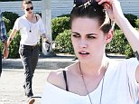 140693, EXCLUSIVE: Kristen Stewart seen leaving Gracias Madre restaurant in LA. Los Angeles, California - Wednesday July 29, 2015. Photograph: Juan Sharma/Bruja, © PacificCoastNews. Los Angeles Office: +1 310.822.0419 sales@pacificcoastnews.com FEE MUST BE AGREED PRIOR TO USAGE