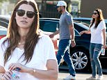 *EXCLUSIVE* Woodland Hills, CA - Justin Timberlake and his wife Jessica Biel visit a veterinarian at Access Specialty Animal Hospital, presumably for their pet dog Tina.  Jessica, who just gave birth earlier this year, showed off her post-baby body in a white cotton t-shirt, ripped jeans and a pair of cream colored flats.\\n\\nAKM-GSI           July 29, 2015\\n\\nTo License These Photos, Please Contact :\\n \\n Steve Ginsburg\\n (310) 505-8447\\n (323) 423-9397\\n steve@akmgsi.com\\n sales@akmgsi.com\\n \\n or\\n \\n Maria Buda\\n (917) 242-1505\\n mbuda@akmgsi.com\\n ginsburgspalyinc@gmail.com