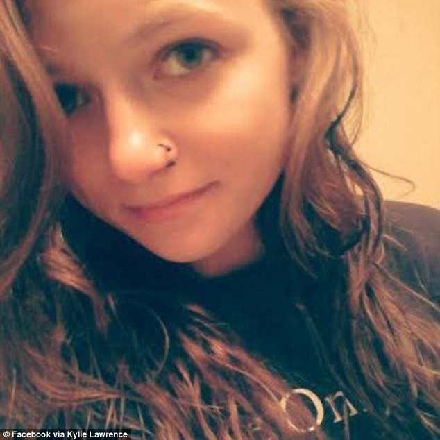 Was at the mall: Kylie Lawrence was reported as a missing runaway on July 28, 2013, when she was 16. Police found Lawrence on Tuesday after someone reported seeing her at Battlefield Mall in Springfield, where officers found her
