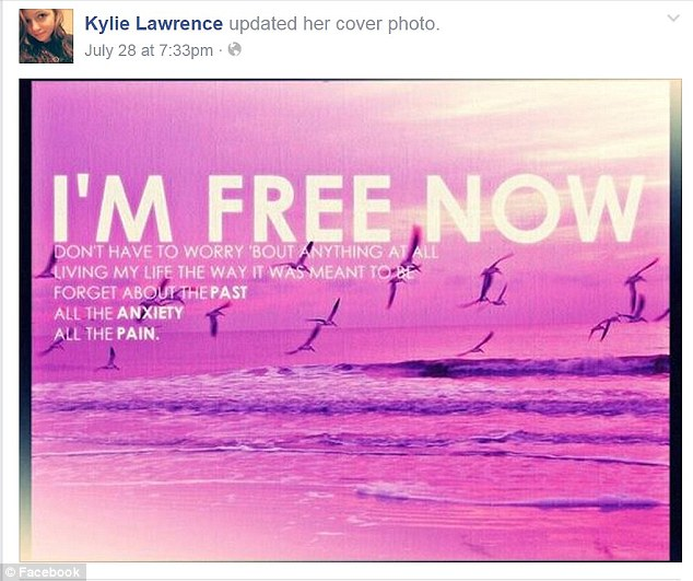 Ms Lawrence also changed her Facebook cover photo to reflect her new attitude
