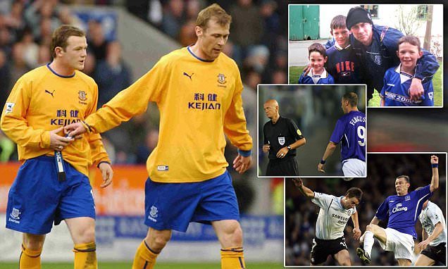 Duncan Ferguson and Wayne Rooney reunited for Scot's Everton testimonial... can they exact